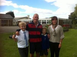 Stuart Lancaster's visit to St Paul's